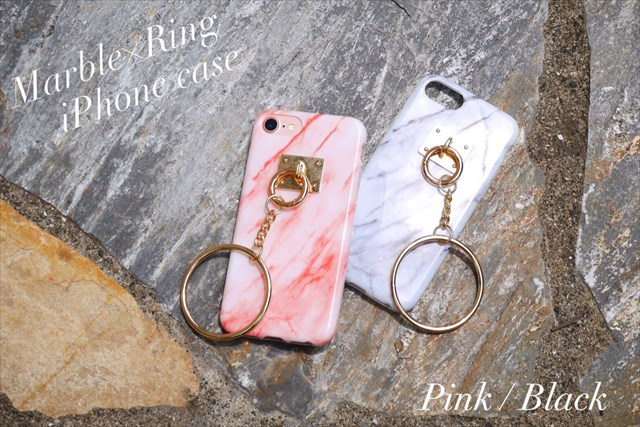Marble×Ring iPhone Case